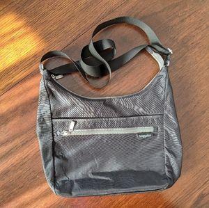 BAGGALLINI   Small Black Crossbody Work Bag